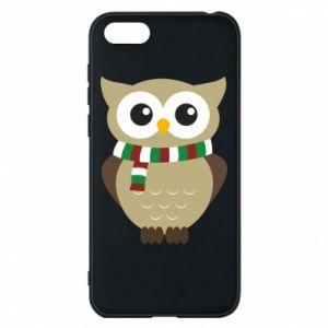 Huawei Y5 2018 Case Owl in a scarf