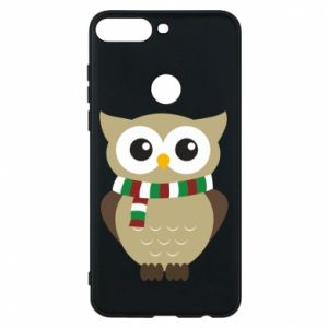 Phone case for Huawei Y7 Prime 2018 Owl in a scarf