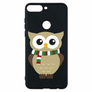 Huawei Y7 Prime 2018 Case Owl in a scarf