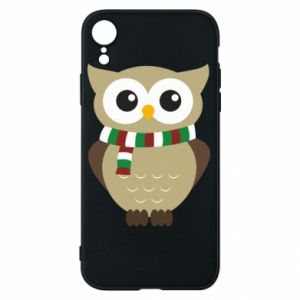 Phone case for iPhone XR Owl in a scarf