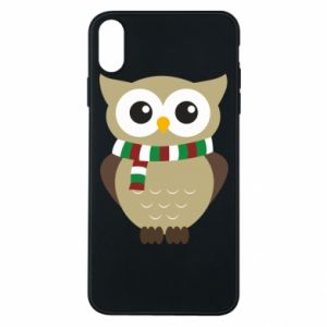 Phone case for iPhone Xs Max Owl in a scarf