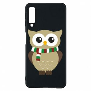 Phone case for Samsung A7 2018 Owl in a scarf