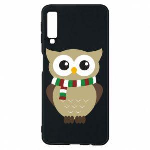 Samsung A7 2018 Case Owl in a scarf