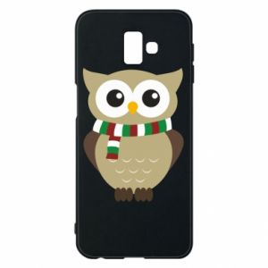 Phone case for Samsung J6 Plus 2018 Owl in a scarf