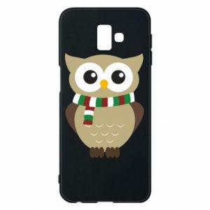 Samsung J6 Plus 2018 Case Owl in a scarf