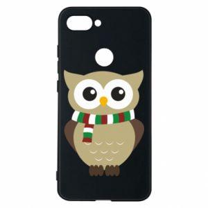 Xiaomi Mi8 Lite Case Owl in a scarf