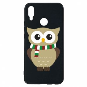 Phone case for Huawei P Smart Plus Owl in a scarf