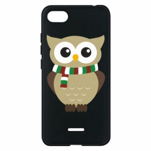 Phone case for Xiaomi Redmi 6A Owl in a scarf