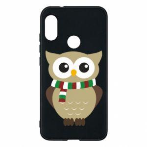 Mi A2 Lite Case Owl in a scarf
