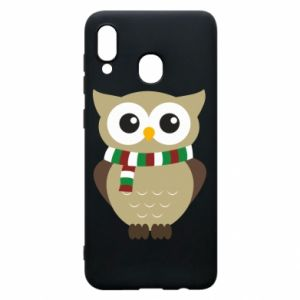 Phone case for Samsung A20 Owl in a scarf