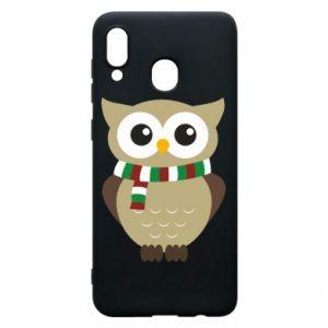 Samsung A20 Case Owl in a scarf