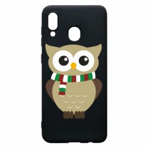 Phone case for Samsung A30 Owl in a scarf