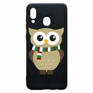 Samsung A30 Case Owl in a scarf