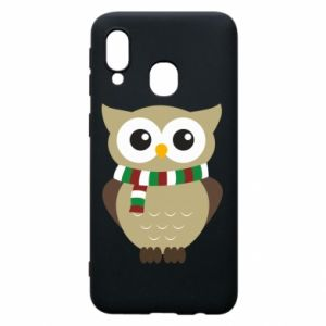 Phone case for Samsung A40 Owl in a scarf