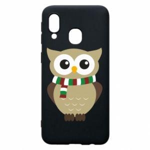 Samsung A40 Case Owl in a scarf