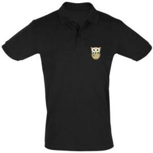 Men's Polo shirt Owl in a scarf