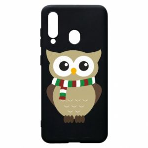 Phone case for Samsung A60 Owl in a scarf