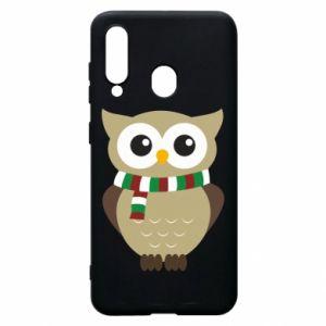 Samsung A60 Case Owl in a scarf