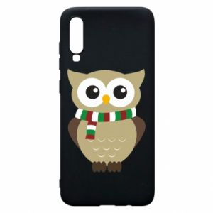 Phone case for Samsung A70 Owl in a scarf