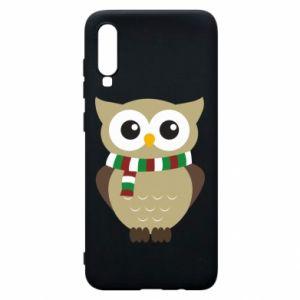 Samsung A70 Case Owl in a scarf