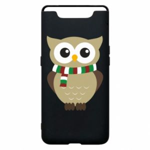 Phone case for Samsung A80 Owl in a scarf