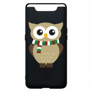 Samsung A80 Case Owl in a scarf