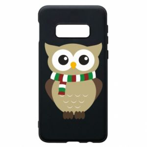 Phone case for Samsung S10e Owl in a scarf