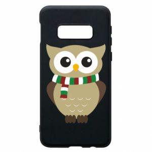 Samsung S10e Case Owl in a scarf