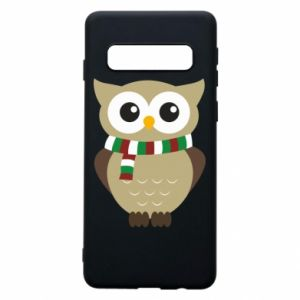 Samsung S10 Case Owl in a scarf