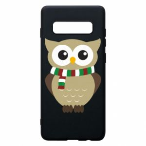 Samsung S10+ Case Owl in a scarf