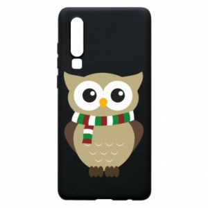 Huawei P30 Case Owl in a scarf