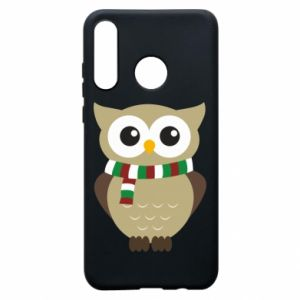 Phone case for Huawei P30 Lite Owl in a scarf