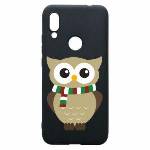 Phone case for Xiaomi Redmi 7 Owl in a scarf