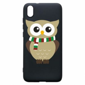 Phone case for Xiaomi Redmi 7A Owl in a scarf