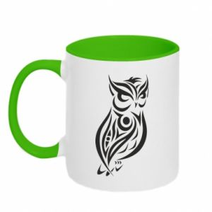 Two-toned mug Owl