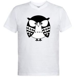 Men's V-neck t-shirt Evil owl