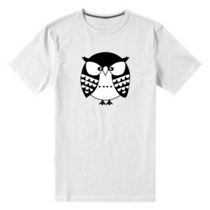 Męska premium koszulka Zła sowa