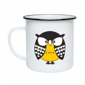 Enameled mug Evil owl
