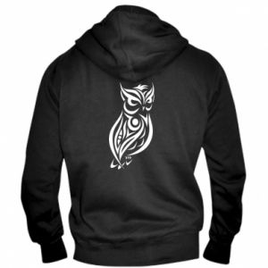 Men's zip up hoodie Owl