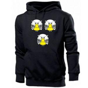 Men's hoodie Owls - PrintSalon