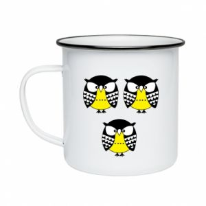 Enameled mug Owls - PrintSalon