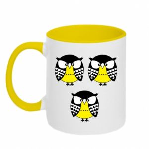 Two-toned mug Owls - PrintSalon