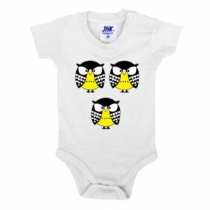 Baby bodysuit Owls - PrintSalon