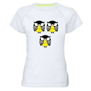 Women's sports t-shirt Owls - PrintSalon