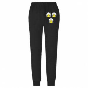 Męskie spodnie lekkie Owls - PrintSalon