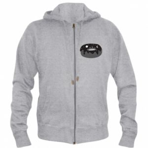 Men's zip up hoodie Space donut - PrintSalon
