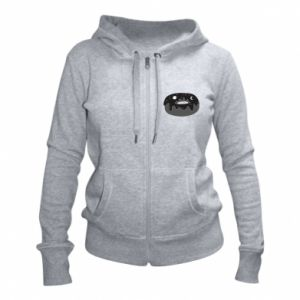 Women's zip up hoodies Space donut - PrintSalon