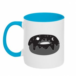 Two-toned mug Space donut