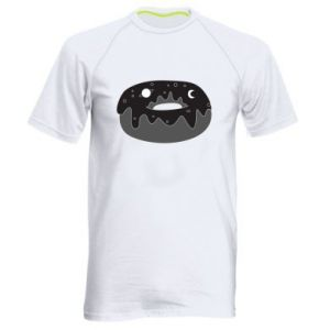 Men's sports t-shirt Space donut - PrintSalon