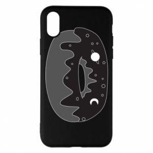 Phone case for iPhone X/Xs Space donut - PrintSalon